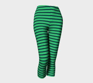 Stripes - Navy on Green preview