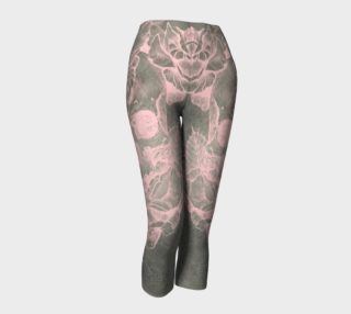 skull + rose + pink + silver + capris preview