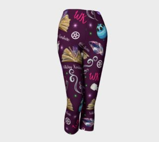WK #ModernWitchLife Purple Print Capris  preview