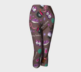 WK #ModernWitchLife Taupe Print Capris preview