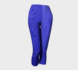 Faux Embossed Blue Capris 102-3 preview