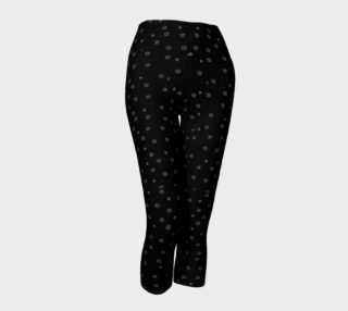 Black Capris with white stars preview