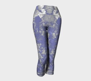 Aperçu de Purple Grey Leaf Art Capris leggings
