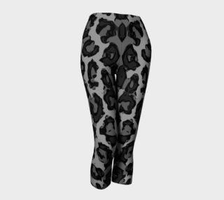 Black Cheetah Capri Leggings  preview