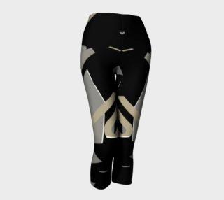 Super Cool Black Geometric Capri Leggings  preview