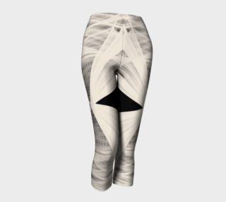 Wrapped Up Black Tan Capri Leggings  preview