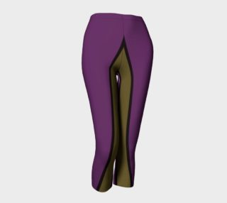 Purple Green Yellow Abstract Capri Leggings  preview