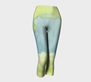 Flowers in Stained Glass Capris preview