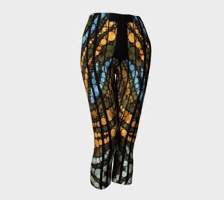 Brown Bling Design Women's Capri Leggings  preview