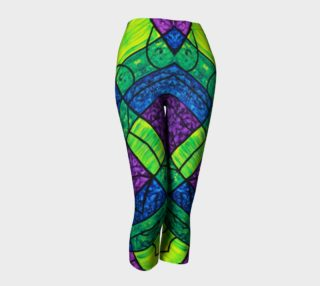 Serenity Stained Glass Diagonal Capris  preview