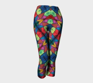 Cross and Flower Mosaic Capris II preview
