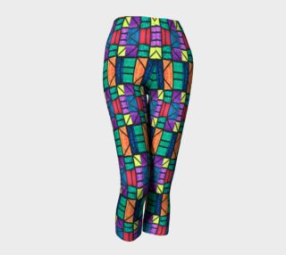 Art Deco Stained Glass Capris preview
