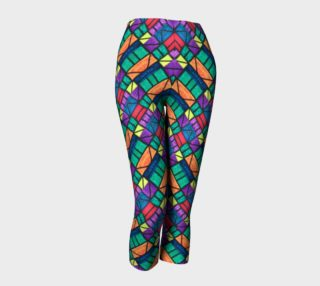 Art Deco Stained Glass Capris II preview