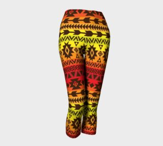 capri pants with bright ethnic pattern preview