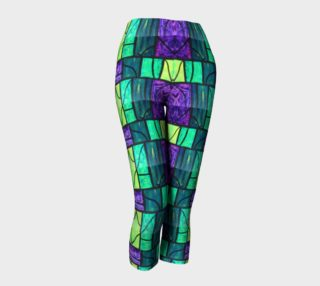 Nouveau Garden Stained Glass Capris preview