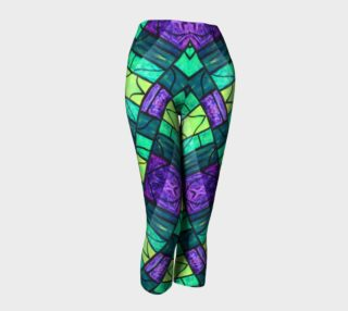 Nouveau Garden Stained Glass Capris III preview