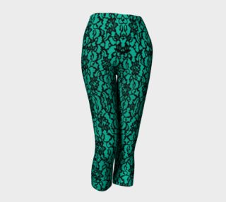 Green with Black Lace Leggings preview