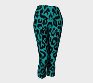 Cyan Leopard Leggings preview