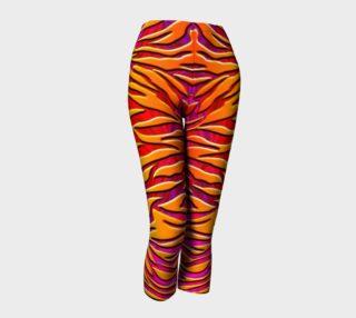 Aperçu de Sunset Zebra Stripes Workout Leggings