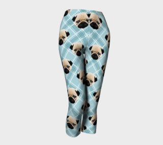 Pug Faces on Plaid preview