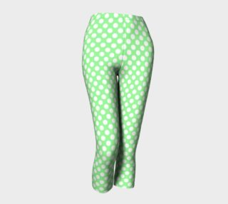 Polka Dots Pattern-Green Capris preview