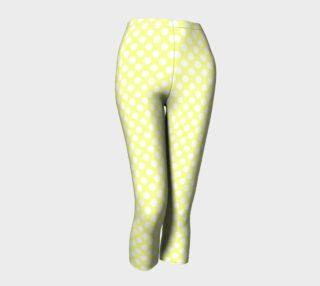 Polka Dots Pattern-Yellow Capris preview