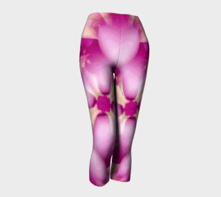 Pink Passionate Dreams Floral Pattern Print Capri Pants preview