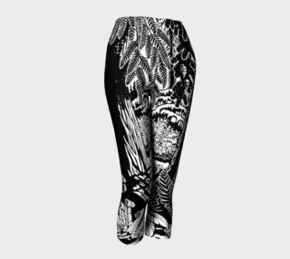 Landscape Art Capris Pants - Black & White Art Print Pants preview
