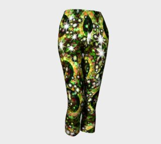Green red Sparkle Swirl Capris preview