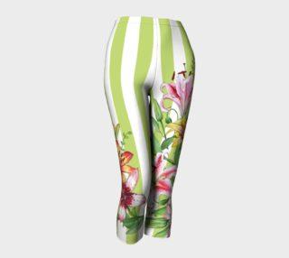 Aperçu de Lilies on Green Stripes