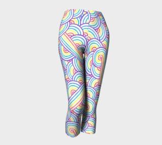 Aperçu de Rainbow and white swirls doodles Capris