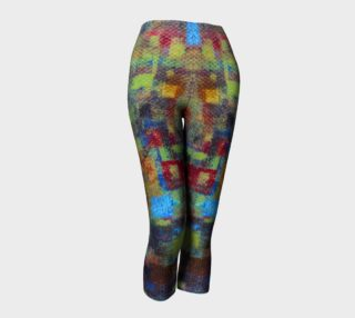 Bold Mosaic Abstract Capris preview