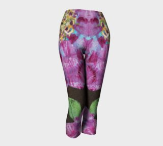 Bold Pink Floral Peonies Capris preview