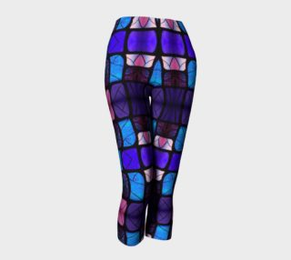 Waterlily Stained Glass - Purple  Capris preview