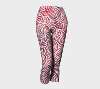 Aperçu de Red and white swirls doodles Capris