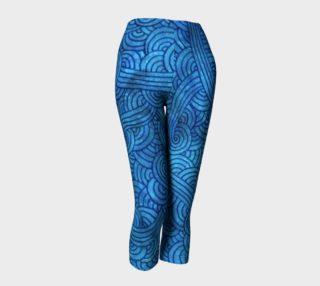 Aperçu de Turquoise blue swirls doodles Capris