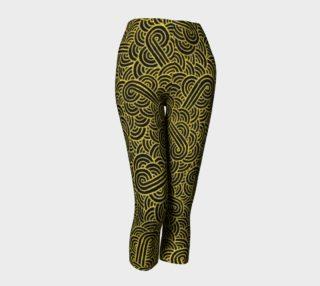 Aperçu de Faux gold and black swirls doodles Capris