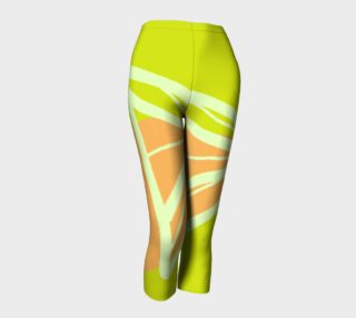 Aperçu de Abstract Capris Lime Green and Peach Collection