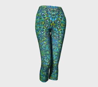Turquoise Stone Mosaic Capris preview