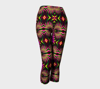 Psychedelic Flamingo Capris preview