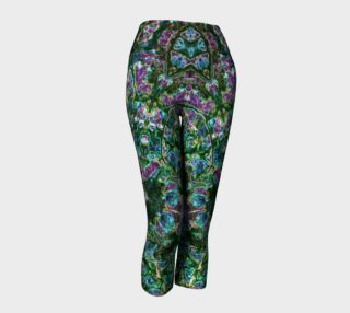 Emerald Gemstone Stained Glass Capris preview