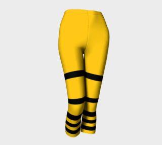 Aperçu de Yinz Black and Yellow Capris