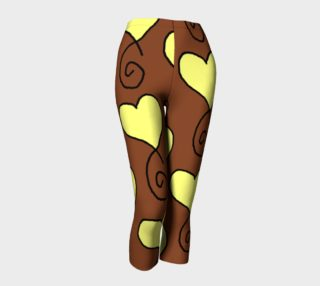 Brown with Light Yellow Hearts Capris preview