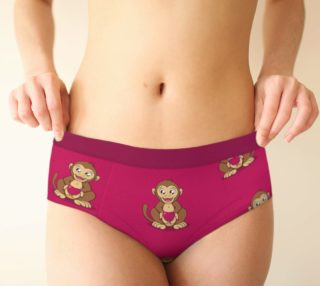 Monkey love pattern Cheeky Brief preview