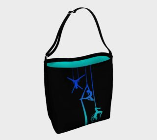 Aerial Ombre - Midnight Ocean Tote Bag preview