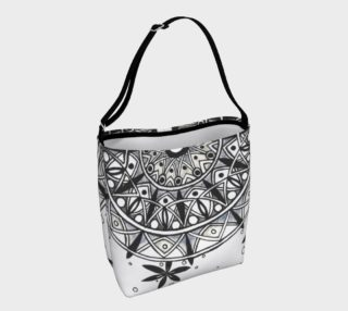 Monochrome Mandala Tote Bag preview