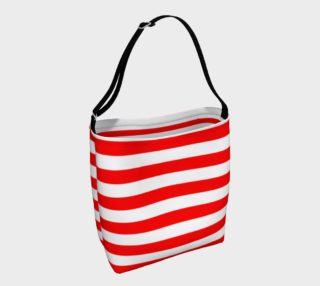 Mainz Carnival tote bag, Carnival bag,   Red and white striped tote bag,  Red and white striped carnival purse, Red and white striped accessories preview