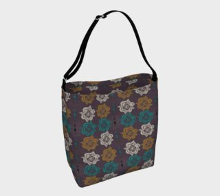 Eggplant Flowers Day Tote preview