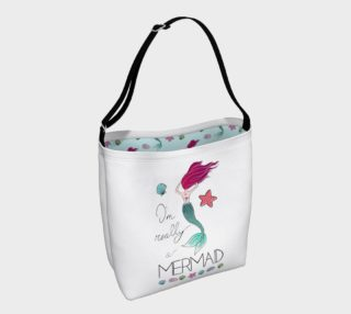 I'm Really a Mermaid Tote Bag preview