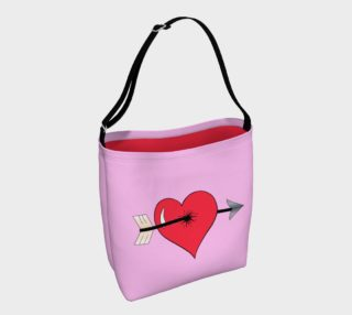 Struck by Cupid's Arrow Tote Bag preview